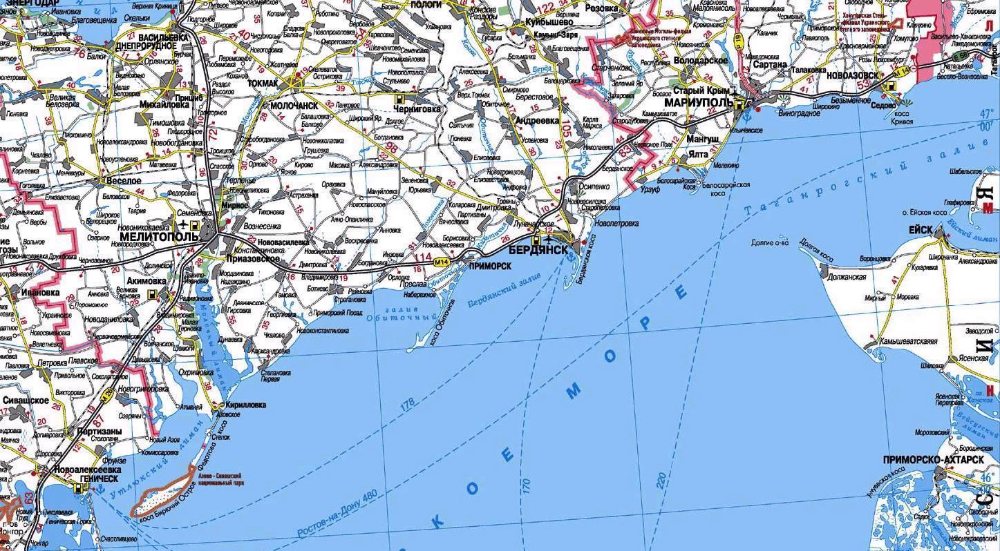 Карты и схемы курортов Азовского побережья: http://asinfo.com.ua/azov/article.php?id=497