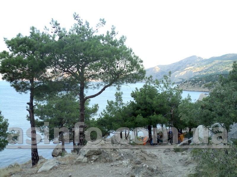 мыс Айя, Палаточный городок
