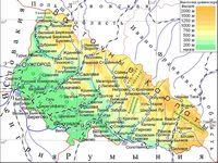 Карта Закарпатской области