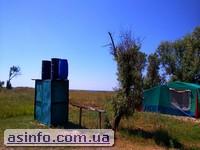 Палаточный городок Два берега. Кинбурнская коса. Одесса